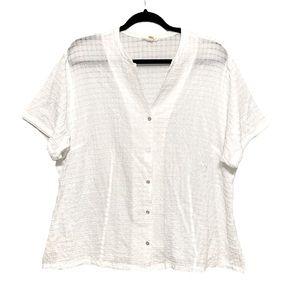 Eileen Fisher organic cotton button up